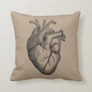 Illustration vintage de coeur coussin décoratif