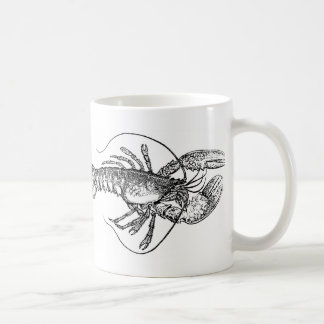 Illustration vintage de homard mug