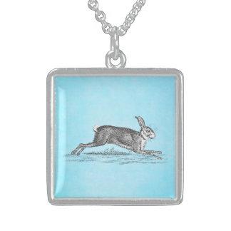 Illustration vintage de lapin de lièvres - lapins pendentifs personnalisés