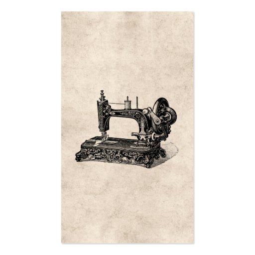 Illustration vintage de machine à coudre de 1800s modèles de cartes de visite