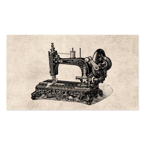 Illustration vintage de machine à coudre de 1800s cartes de visite personnelles