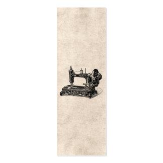 Illustration vintage de machine à coudre de 1800s carte de visite