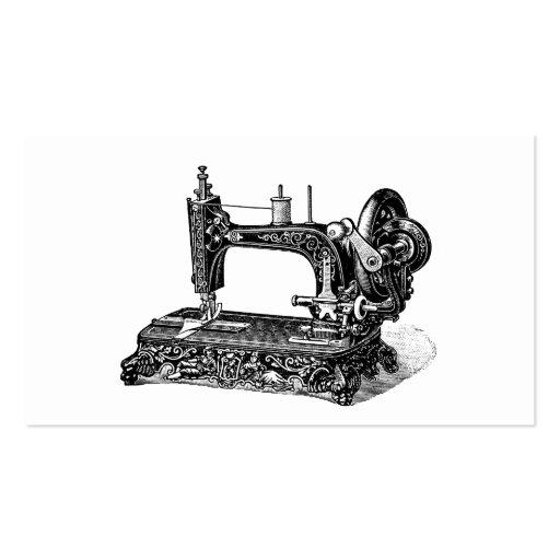 Illustration vintage de machine à coudre de 1800s modèle de carte de visite