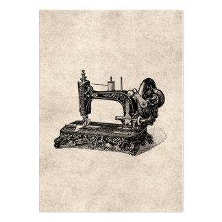 Illustration vintage de machine à coudre de 1800s carte de visite grand format