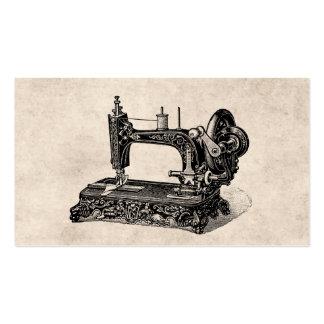 Illustration vintage de machine à coudre de 1800s carte de visite standard