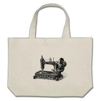 Illustration vintage de machine à coudre de 1800s sacs