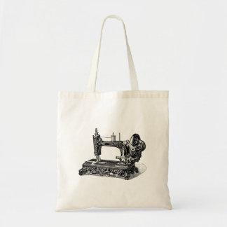Illustration vintage de machine à coudre de 1800s sacs en toile