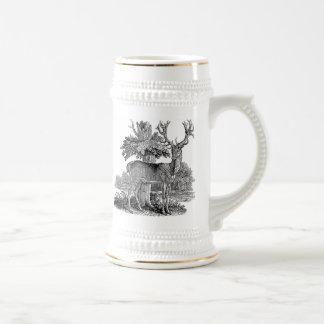 Illustration vintage de mâle tasses à café