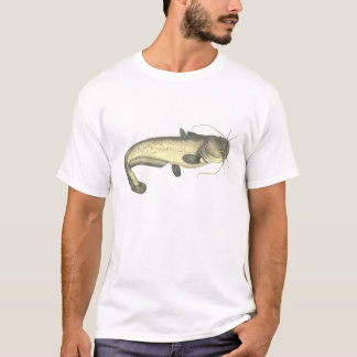 Illustration vintage de poisson-chat t-shirt