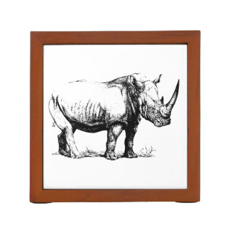 Illustration vintage de rhinocéros, animal
