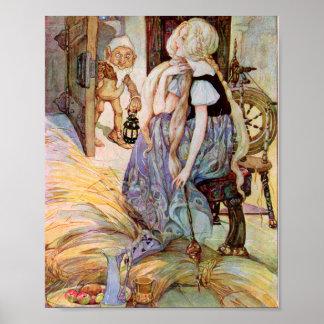 Illustration vintage de Rumpelstiltskin Posters