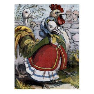 """Illustration vintage de """"vieille oie de mère"""" carte postale"""