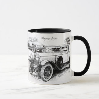Illustration vintage de voiture mug