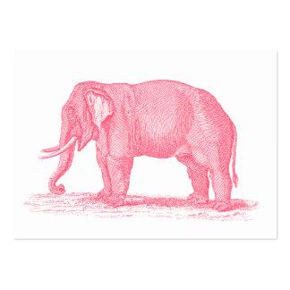 Illustration vintage d'éléphants de 1800s carte de visite grand format