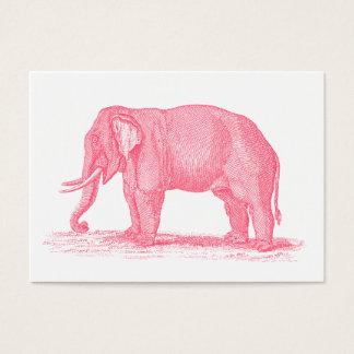 Illustration vintage d'éléphants de 1800s cartes de visite