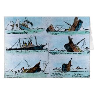 Illustration vintage titanique de RMS de la Carte De Vœux