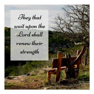 Ils cette attente sur le seigneur Scripture Poster