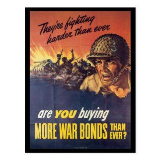 Ils combattent la guerre mondiale 2 carte postale