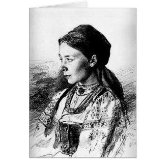Ilya Repin : Portrait de Maria Artsybasheva Carte De Vœux