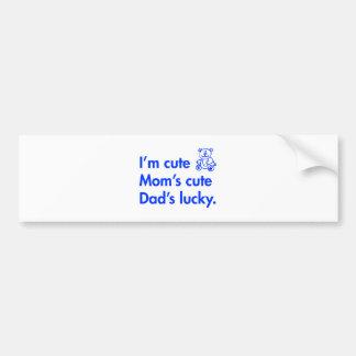Im-cute-moms-cute-dads-lucky-fut-blue.png Autocollant Pour Voiture