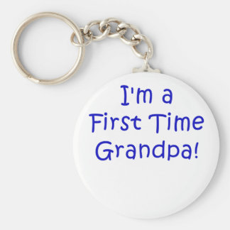 Im un grand-papa de première fois porte-clé rond