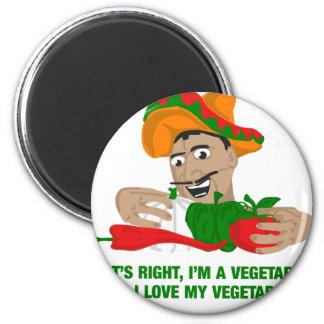 Im un végétarien et moi aiment mes légumes aimant