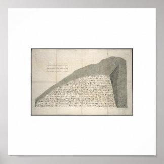 Image 1810 de Heiroglyphs de pierre de Rosetta Affiche