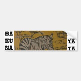 Image africaine de personnaliser de safari de Haku Autocollant Pour Voiture