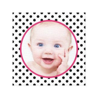 Image chic personnalisée de photo de bébé de point toiles