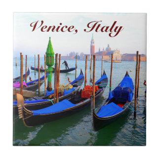 Image customisée des gondoles à Venise Petit Carreau Carré