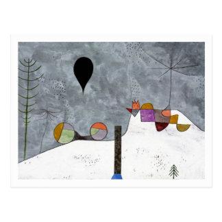 Image d hiver par Paul Klee Carte Postale