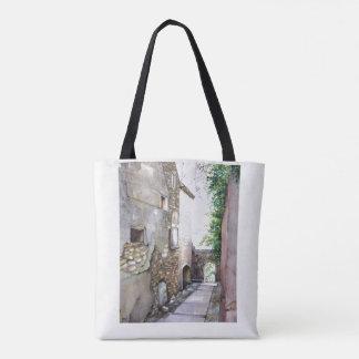 Image d'aquarelle d'en Grignan sur le sac
