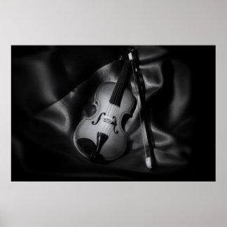 image de b&W de l'Encore-vie d'un violon Posters