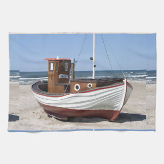 Image de bateau de pêche serviette éponge