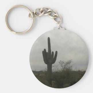 Image de cactus porte-clé rond