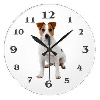 Image de chien pour (la grande) horloge murale