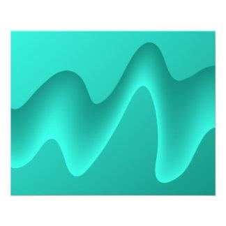 Image de conception d'abrégé sur Teal Prospectus 11,4 Cm X 14,2 Cm