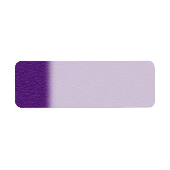 Image de cuir pourpre étiquette d'adresse retour