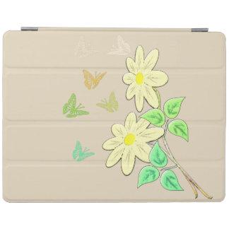 Image de fleurs TA de papillons Protection iPad