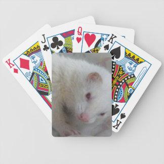 Image de furet albinos cartes à jouer