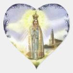 Image de l'apparition notre Madame de Fatima Autocollant En Cœur