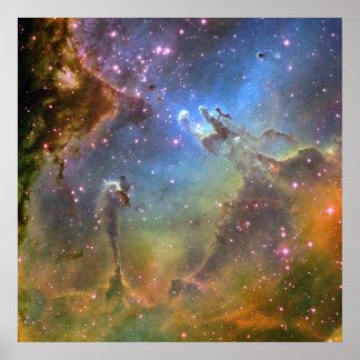 Image de Large-Champ de la nébuleuse d'Eagle Affiches