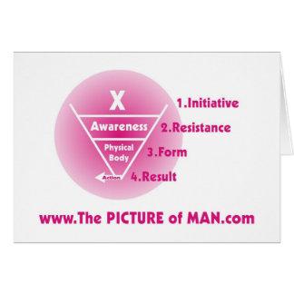 Image de l'homme - rose cartes de vœux