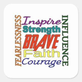 Image de mot de la foi etc. de courage d'audace…
