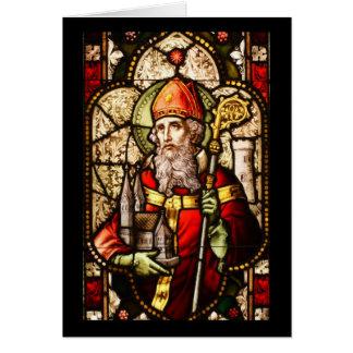 Image de Patrick de saint sur le verre souillé Carte De Vœux