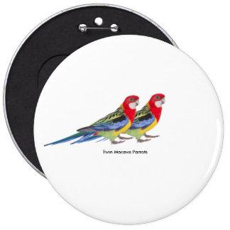Image de perroquet pour l'insigne rond colossal badges