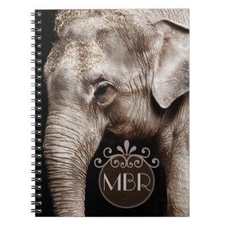 Image de photo d'éléphant carnet à spirale