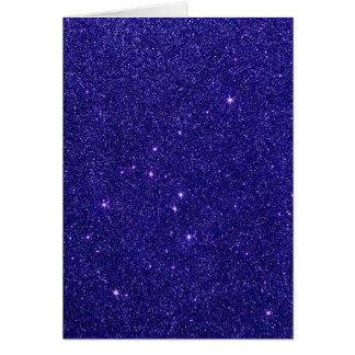 Image de scintillement bleu à la mode cartes de vœux