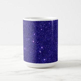 Image de scintillement bleu à la mode mug
