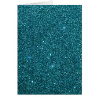 Image de scintillement turquoise à la mode cartes de vœux